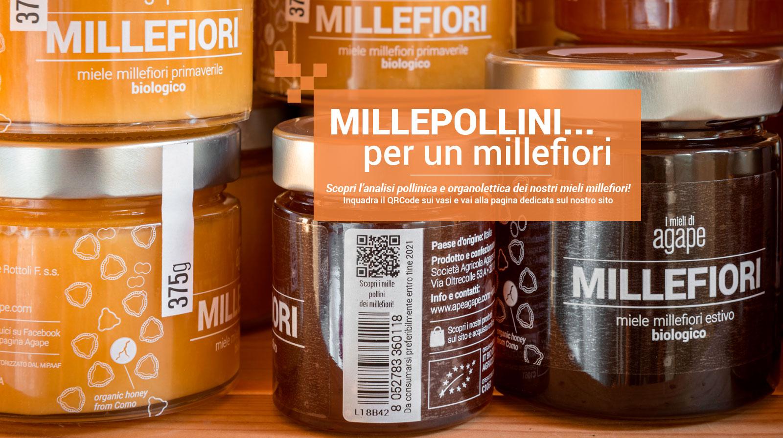 Agape Azienda Agricola Miele Biologico Como QR Millefiori Millepollini
