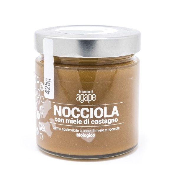 Crema spalmabile nocciola e miele di castano agricoltura italia 425g