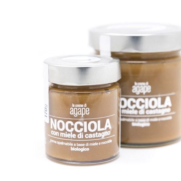 Crema spalmabile nocciola e miele di castano agricoltura italia