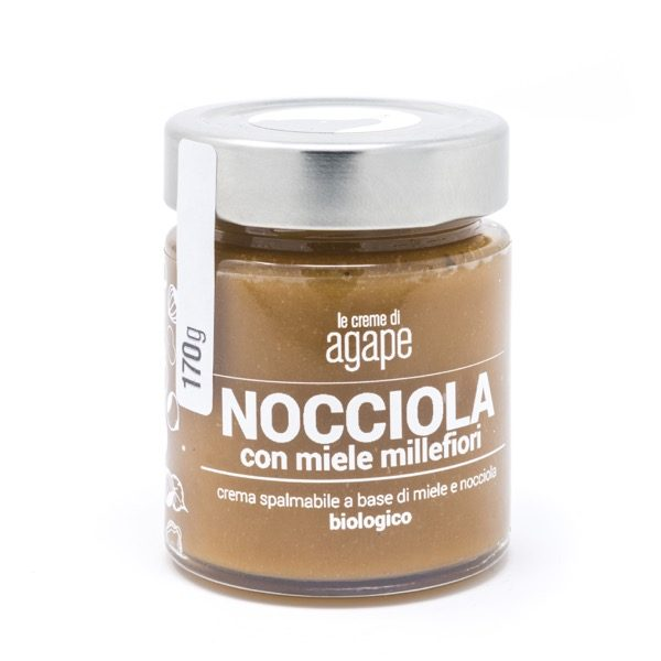 Crema spalmabile nocciola e miele millefiori agricoltura italia